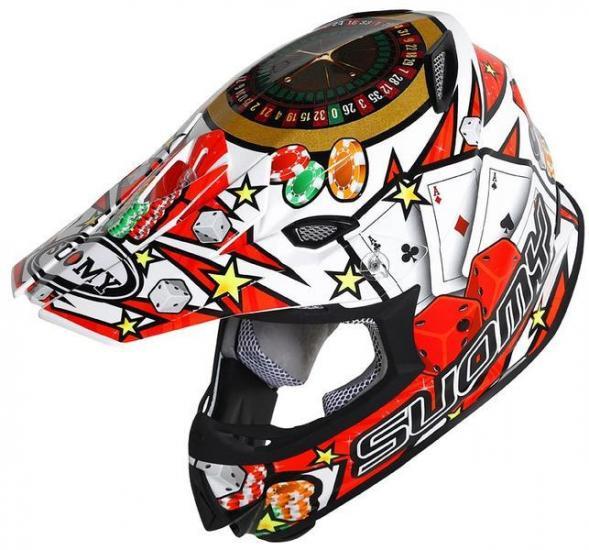 Suomy MR Jump Jackpot Motocross Helmet White