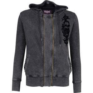 Lethal Angel Crossbones zip-hoodie