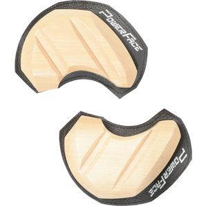 Powerface Knee Sliders Wood, Pair