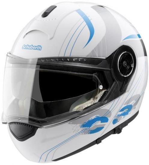 Schuberth C3 Lady Stripes Blue Helmet