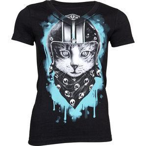 Lethal Angel Biker Cat ladies shirt