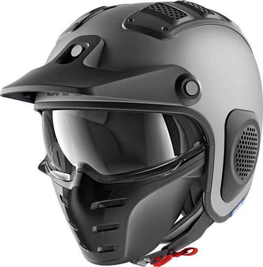 Shark X-Drake Blank Mat Jet Helmet