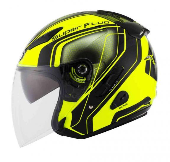 KYT Hellcat Superfluo Jet Helmet