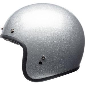 Bell Custom 500 matte flake silver