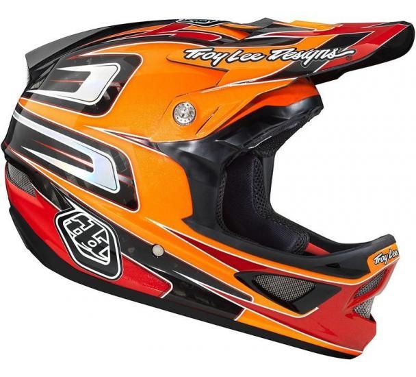 Troy Lee Designs D3 Speed Carbon Orange