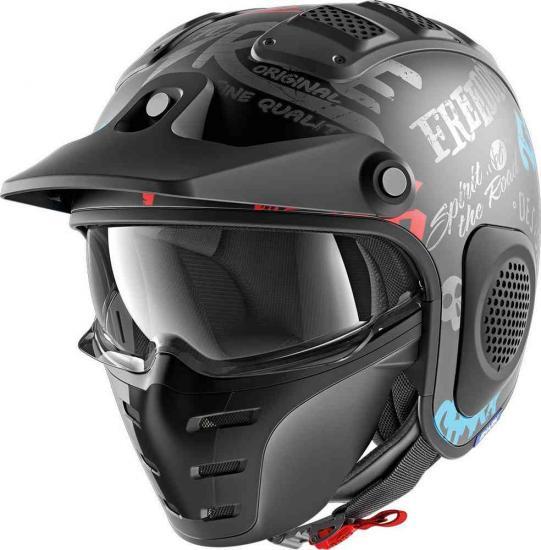 Shark X-Drake Freestyle Cup Mat Jet Helmet