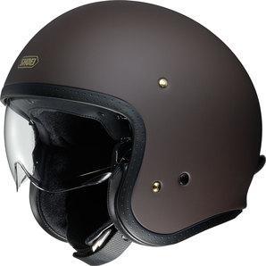 Shoei J.O Jet Helmet matt brown