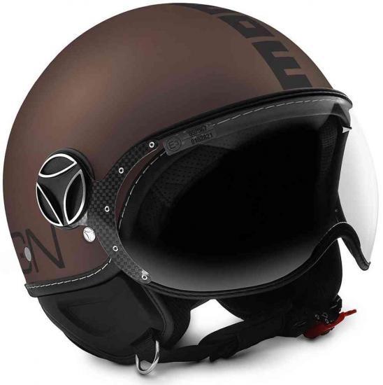 MOMO FGTR EVO Jet Helmet Tobacco / Black