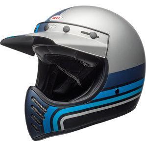 Bell Moto-3 Stripes silver/black/blue