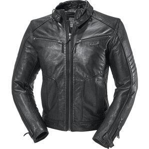AJS Antique II leather jacket, black