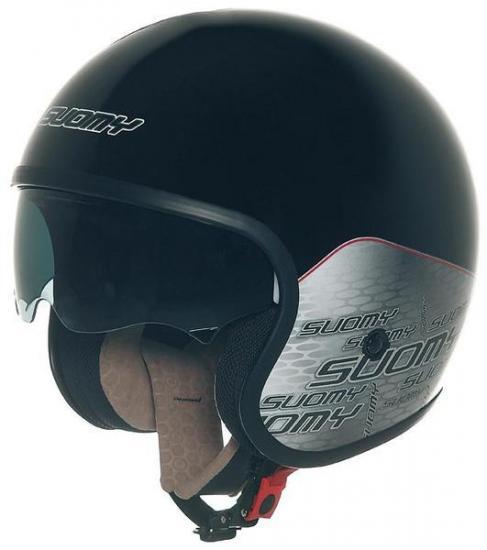 Suomy 70's Home Jet Helmet Black