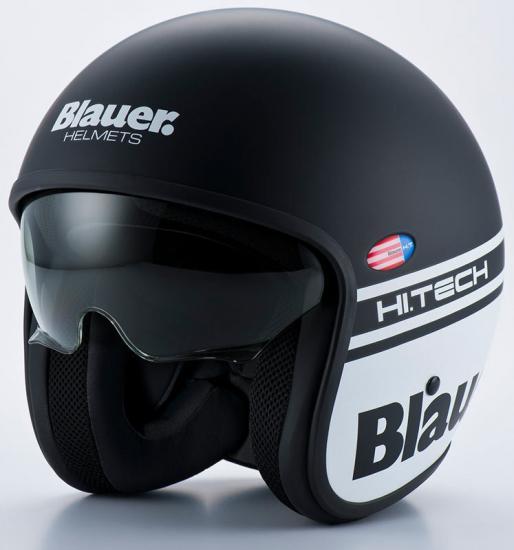 Blauer Pilot 1.1 Jet Helmet Black Matt/White