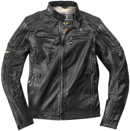 Black-Cafe London Schiras Motorcycle Leather Jacket