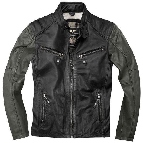Black-Cafe London Firenze Motorcycle Leather Jacket