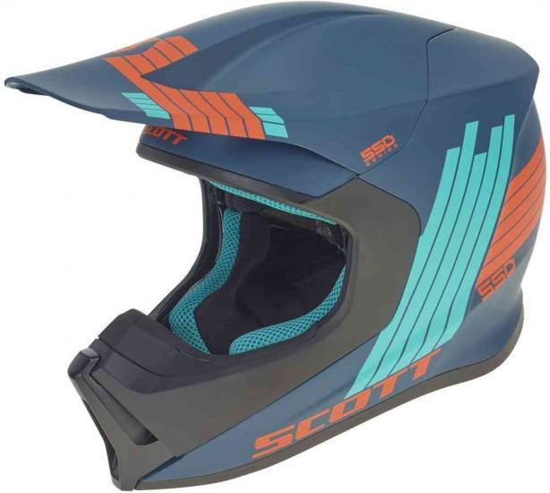 Scott 550 Stripes ECE Motocross Helmet