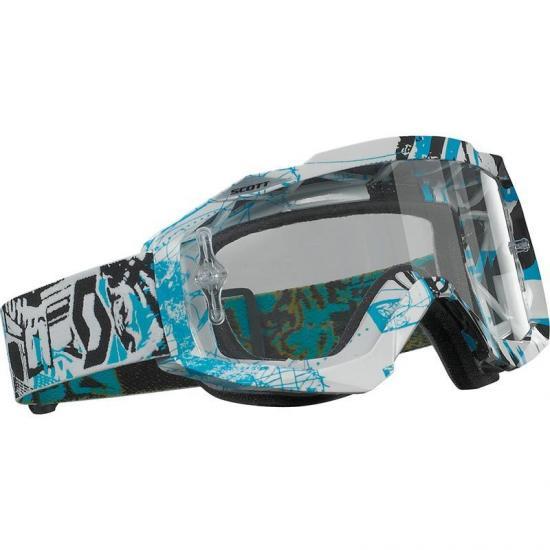 Scott Hustle MX Vice Black Blue Goggle