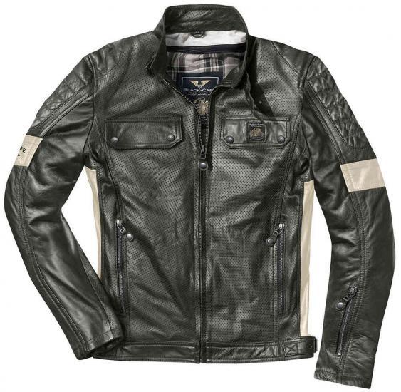 Black-Cafe London Brooklyn Motorcycle Leather Jacket