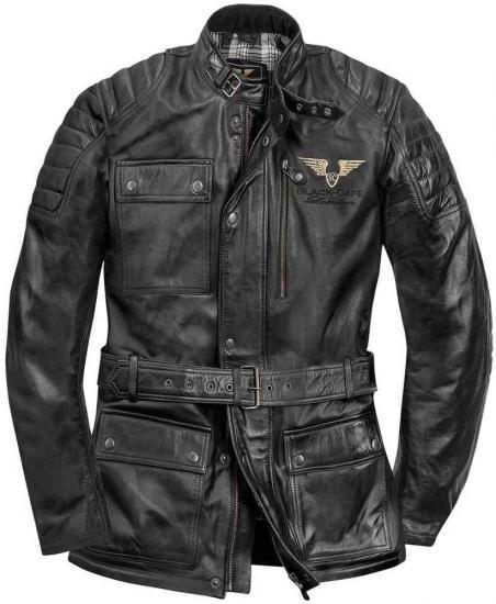 Black-Cafe London Kerman Leather Jacket