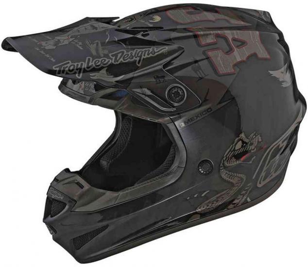 Troy Lee Designs SE4 Polyacrylite Baja Motocross Helmet