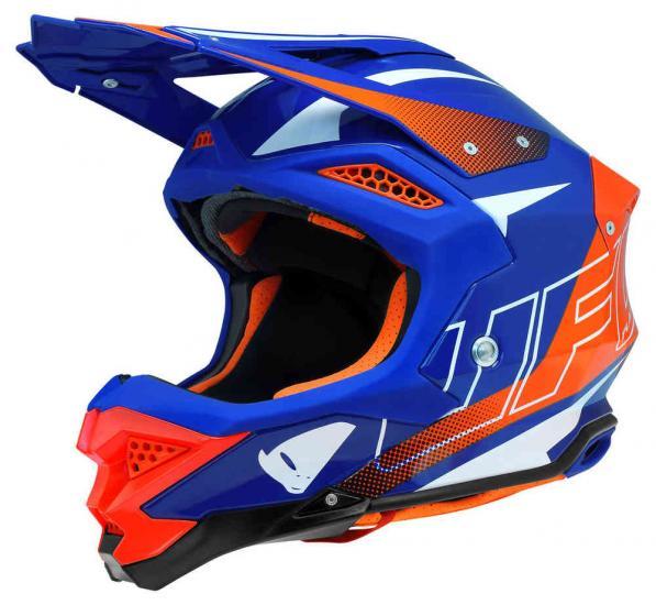 UFO Diamond blue red Motocross Helmet