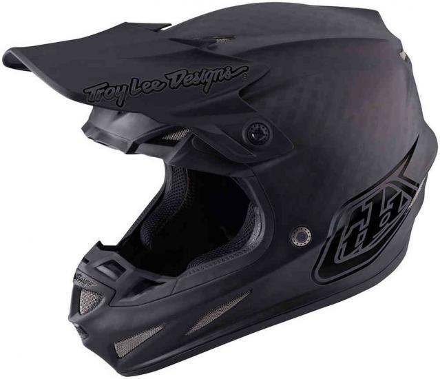 Troy Lee Designs SE4 Midnight Carbon MX Helmet