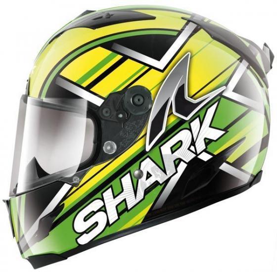 Shark Race-R Kristo Helmet Black/Green/Yellow