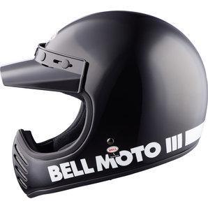 Bell Moto-3 Gloss Black Classic Motocross Helmet