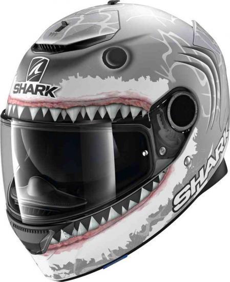 Shark Spartan Replica Lorenzo White Shark Mat Helmet
