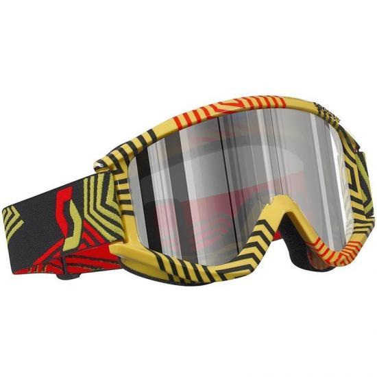 Scott Recoil XI Pro Maze Yellow Silver Chrome Goggle