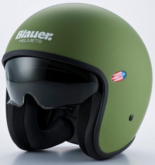 Blauer Pilot 1.1 Jet Helmet Green Matt