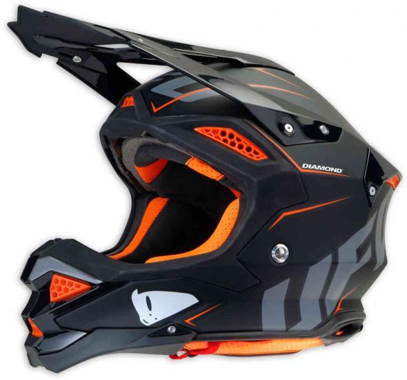 UFO Diamond black Motocross Helmet