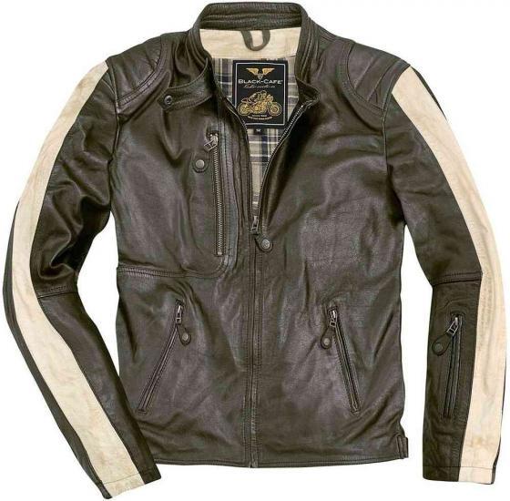 Black-Cafe London Vintage Motorcycle Leather Jacket