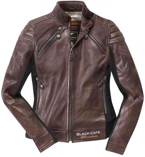 Black-Cafe London Semnan Ladies Leather Jacket