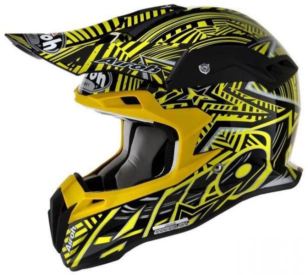Airoh Terminator Stardust Motocross Helmet Yellow