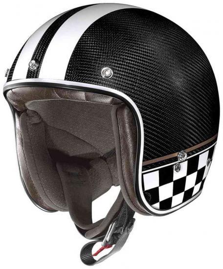 X-Lite X-201 Ultra Carbon Willow Springs Demi Jet Helmet
