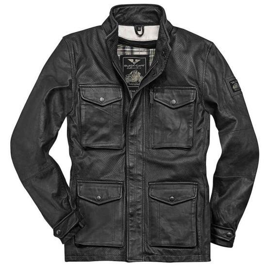 Black-Cafe London Manhattan Leather Jacket