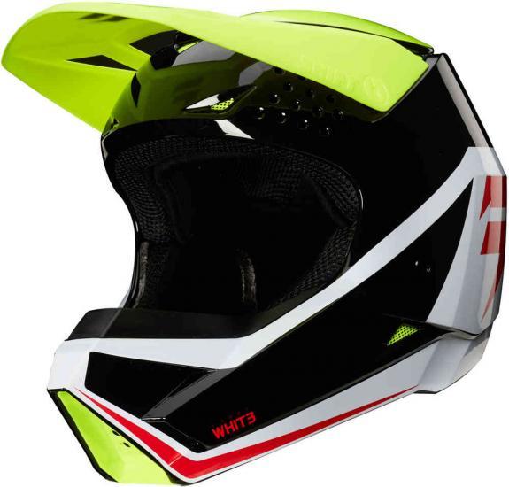 Shift Whit3 Label Race Graphic Kids Motocross Helmet