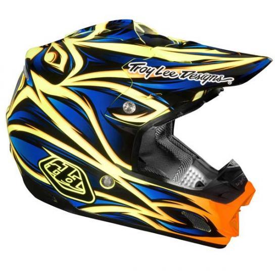 Troy Lee Designs SE3 ECE Beast Helmet Blue/Yellow