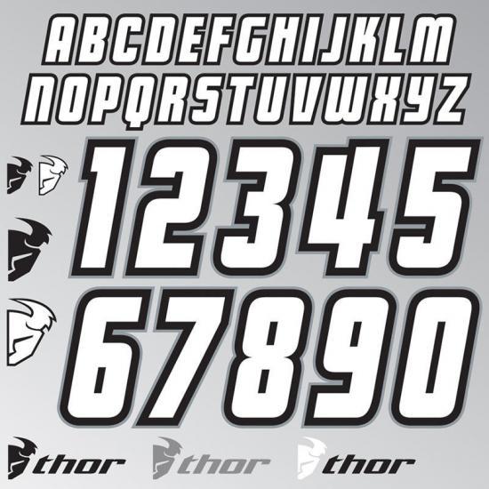Thor Jersey ID Kit Sticker