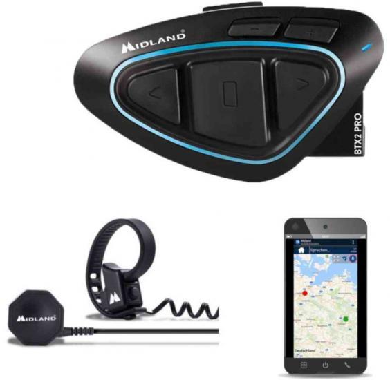 MIDLAND BTX2 Pro Ultra Range Bluetooth Communication System Single Pack