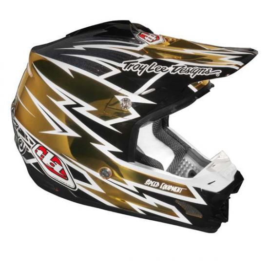 Troy Lee Designs SE3 ECE Zap Helmet Gold/Chrom