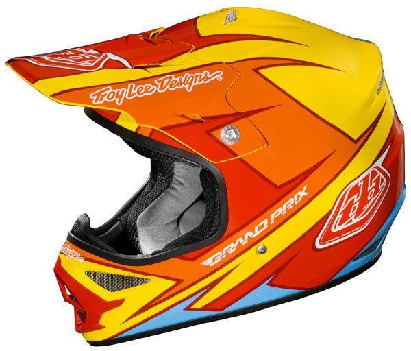 Troy Lee Designs Air Stinger Yellow/Red Helmet