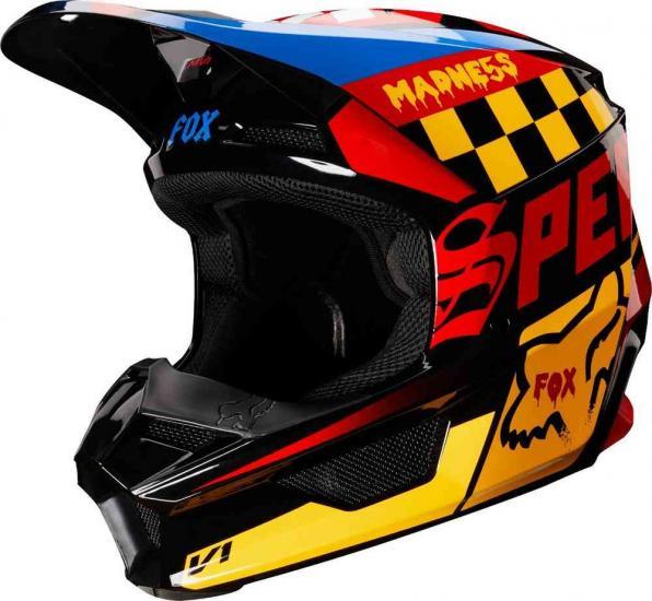FOX V1 CZAR Motocross Youth Helmet