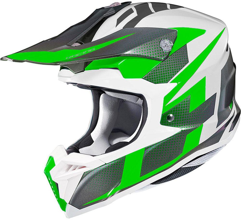 HJC i50 Argos WHITE/GREEN, SIZE M